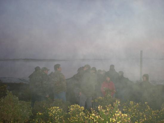 La brume elle aussi au RDV.